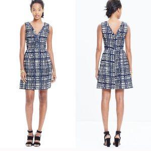 Madewell Midnight Brushstroke Plaid Dress size 2